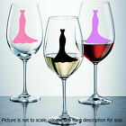 Wine Glass Stickers wedding dresses champagne glass stickers decals gift item