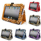 New Leopard Print Folio Stand Leather Pouch Case for Amazon Kindle Fire HD 7