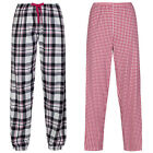 Marks & Spencer Womens Cotton Pyjama Bottoms M&S Check Lounge Pants PJs Trousers