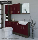 BURGUNDY / MALI WENGE BATHROOM FITTED FURNITURE 1800MM WITH WALL & TALL UNIT