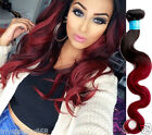 "Ombre Human Hair Extensions 1B BURG# ,Body Wave 10""-30"" 50g/Bundle Fashion Hair"