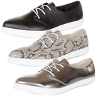 Lace Up Pointed Toe Patent Plain Print Flat Pumps Loafers Shoes Size  Womens