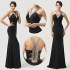 New Sequins Women Long Formal Bridesmaid Party Evening Prom Gown Wedding Dresses