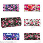 Satin Multicoloured Floral Clutch Evening Bag #146
