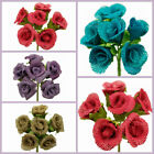 30 BURLAP Mini ROSE Buds Bushes Wedding Flowers DECORATIONS Bouquet  WHOLESALE
