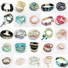 Fashion Women Lots Style Bracelet Rhinestone Bangle Charm Cuff New Jewelry