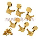 3+3 Gold Acoustic Guitar Tuning Keys Machine Heads Tuners