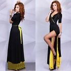 New Womens Lady Vintage Elegant Short Sleeve Maxi Long Party Cocktail Prom Dress