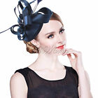 New Lady Vintage Satin Fascinator Feather Hat Hairgrip Clip Party Decor Wedding