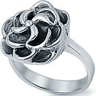 New 925 Sterling Silver Adorable Love Flower ROSE Promise Woman's Ring Size 3-11