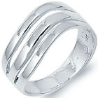 925 Sterling Silver Open Cut Classic Wedding Love Woman's Dome Ring Size 3-11