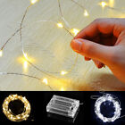 Twinkling Fairy String Lights 40/50/100LED Battery Operated New White/Warm White