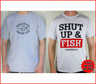 Men's Fishing Shirts! Bundle - Shut Up & Fish plus Bondi Fishing T-Shirt (Grey)
