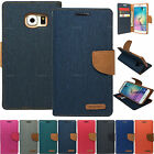 Canvas Diary Stand Case For Samsung Galaxy S6 edge S5 S4 Active S4 mini S3 S2