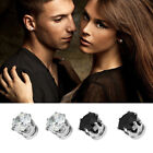 Reliable 1Pair Men Women Clear/Black Crystal Magnet Earrings Stud Jewelry HFCA
