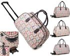 Ladies Large G Print Holdall Trolley Weekend Bag Hand Luggage Travel Bag Handbag
