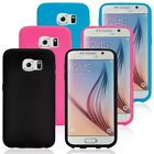 Samsung Galaxy S6 silicone rubber gel protective skin case cover various colours