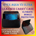 ACM-HORIZONTAL LEATHER CARRY CASE for INTEX AQUA Y2 ULTRA MOBILE POUCH COVER NEW