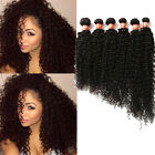 "US Stock 1/2/3Bundles HUMAN Hair 16""-20"" Brazilian Curly Wave Hair Extension Hot"
