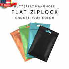 colored zip lock bags - 100 Flat Clear/Silver/Colored Mylar Zip Lock Bags in Variety of Sizes/Colors