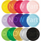 "20 x 7"" ROUND Paper Cake PLATES 17cm Plain Colours Birthday BBQ Party Tableware"