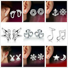 New Women Fashion Elegant 925 Sterling Silver Creative Ear Stud Earrings Gift