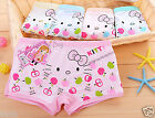 10PCS Cute KITTY Modal Boxer Briefs Underwear Boyshorts for Girls Kids 4T-10T