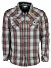 MENS CASUAL SHIRT MOD CHECK DESIGN RED WHITE COLOUR L TO XL RRP £49.99