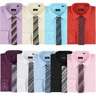 BOYS SHIRT & TIE SET LONG SLEEVE FORMAL KIDS PROM WEDDING TOP GIFT BOX 1-15 Y