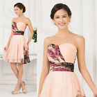 Sexy Bridesmaid Prom Party Wedding Short Dress Bridal Cocktail Evening Gown PLUS