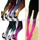 Women Fashion Sexy Watercolor Velvet Gradient Tights Pantyhose Socks