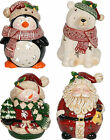 Village Candle - CHRISTMAS TEALIGHT CANDLE HOLDER - Penguin Santa Snowman Bear