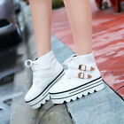 Lady Ankle Boots Strappy Lace Up Creeper Platform Sport Tennis College Sneakers