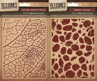 "Crafters Companion - TEXTURES 5x7"" EMBOSSING FOLDERS - Cardmaking Free UK p&p"
