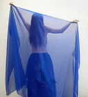 CHIFFON VEIL FOR BELLY DANCE COSTUME, NEW. Available BLACK RED BLUE WHITE