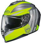 HJC IS-17 GRAPPLE HELMET MOTORCYCLE STREET RIDING WITH SUN SHIELD HI-VIZ DOT NEW