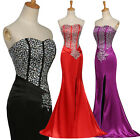 Beaded Mermaid Style Formal Long Cocktail Evening Gown Prom Bridesmaid Dresses