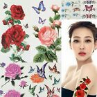 """7*3"""" Womens Charm Temporary Tattoo Body Art Sticker Removable Flower Butterfly"""