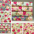 Lot of 4 Fat Quarters / 1yard 100% Cotton Fabric Floral Print Sewing Craft m-088