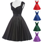 50's Inspired Plus Size+ PINUP Rockabilly Sun Tea Prom Dress Straps V NECK RETRO