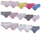 Girls 5 Pack Knickers Underwear Pants Cotton Briefs 2 - 6 Years 100% Cotton