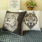 "18"" Personality leopard & wolf Throw Sofa Car Auto Bed Pillow Case Cushion Cover"