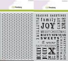 2015 Craft Emotions A5 Mask SWEET VINTAGE CHRISTMAS Embossing Stencil Cardmaking
