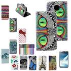 NEW PU LEATHER WALLET CASE COVER FOR Motorola Moto X2 SCREEN PROTECTOR N1