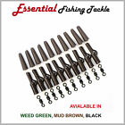 LEAD SAFETY CLIP SYSTEM 30 PIECE SET - CARP FISHING - BLACK, BROWN or GREEN