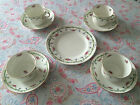 Vintage/antique EDWARDIAN ditsy pink rose/blue floral china teaset TEA SET for 4