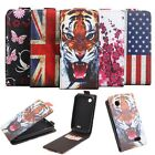 "Flip Printing PU Leather Wallet Case Cover Skin For 4"" Lenovo A369 Smartphone"