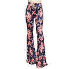 Boho Hippie High Waist Wide Leg Long Flared Bell Bottom Pants S M L XL  USA