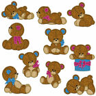 * TEDDY BEARS * Machine Applique Embroidery Patterns * 10 Designs, 2 sizes