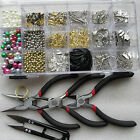 1 - 2 Jewellery Make Components Starter Kit Tools Cords Findings Charms Spacers